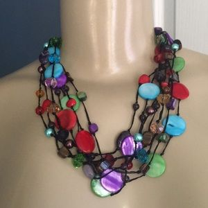 Colorful, adjustable Statement necklace